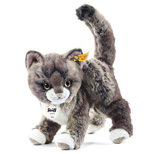 Steiff 099335 - Kitty Katze stehend, 25 cm, grau/beige
