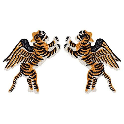 Merk Borduurwerk Vliegende Tijger Vleugels Stof Patches Motief Applique Naai op Kleding Versierde Naaien Accessoires 1 paar/2 stuks