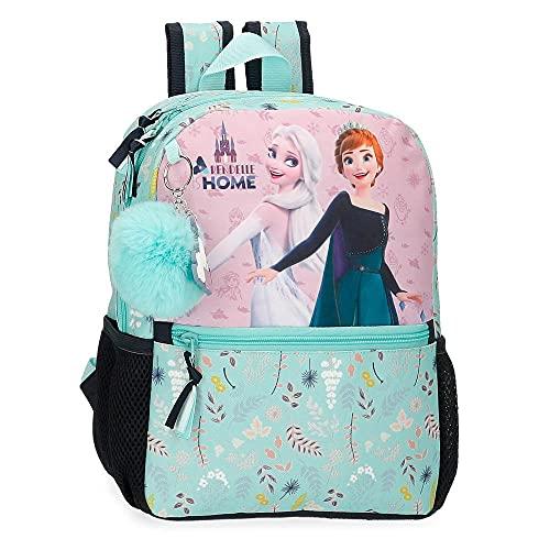 Disney Frozen Arendelle is Home Mochila Escolar Adaptable a Carro Azul 25x32x12 cms Poliéster 9,6L