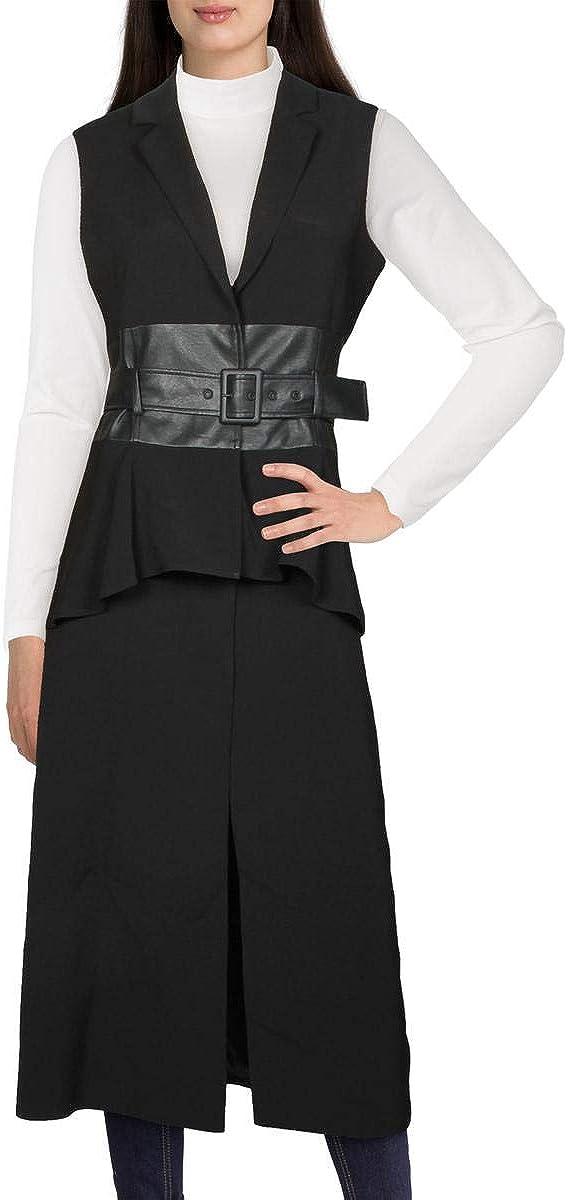 BCBGMAXAZRIA Women's Long Vest