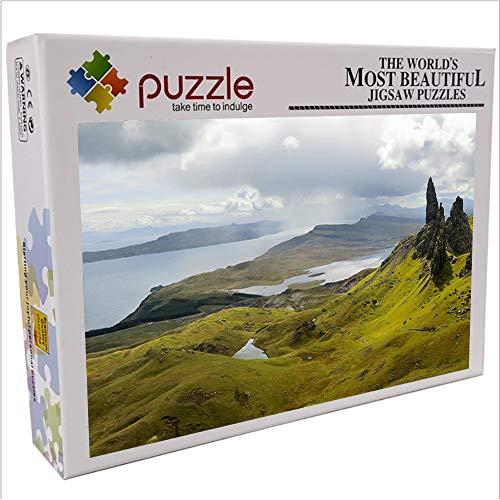 Lago Escocia rompecabezas para niños adultos 1000 piezas rompecabezas de papel paisaje...