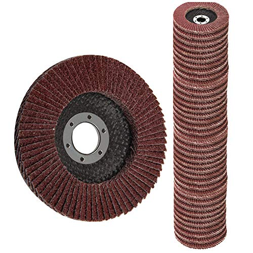 Flap Discs 40 PCS 4.5 Inch - 40 60 80 120 Grit Grinding Discs 4 1/2 Assorted Sanding Grinding Wheels,Aluminum Oxide Abrasives,Grinder disc