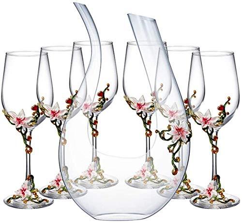 BECCYYLY Decantador de vino en forma de U decantador, vidrio de cristal sin plomo, jarra de vino clásica soplada a mano, sabor mproving y aroma de vino,Accesorios de vino Botella de vino