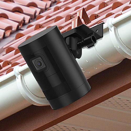 foreaya Weatherproof Gutter Mount Bracket Compatible with Ring Stick Up Cam Battery/Ring Stick Up Cam Wired Greater Height Best Viewing Angle for Your Surveillance Camera (Black)