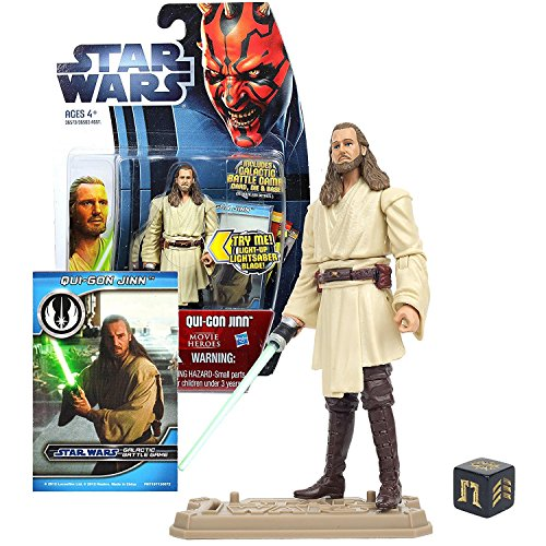 Hasbro Jedi Master Qui-Gon Jinn mit Light-Up Lightsaber Movie Heroes - Star Wars