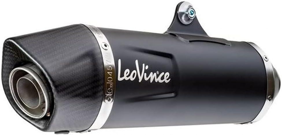 Sistema de escape LeoVince Nero para Vespa GTS 300 HPE Euro 5 2020 2021 con catalizador