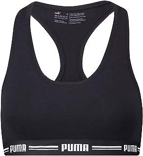 حمالة صدر رياضية للنساء من بوما - حمالات صدر للنساء - صدرية رياضية بتصميم ريسرباك (عبوة واحدة)