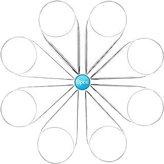 Aiguilles à Tricoter Circulaires - Ensemble D'aiguilles à Acier Inoxydable 8 Pièces, Aiguilles Circulaires à Tricoter Rond...
