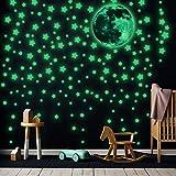 453 Pegatinas Luminosas Pegatinas de Estrellas Fluorescentes de Pared Calcomanías de Pegatinas de...