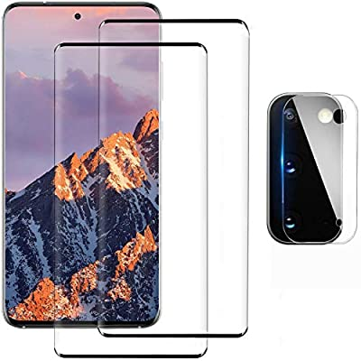 Glass Screen Protector for Samsung Galaxy S20 Plus/S20 Plus 5G, 9H Tempered Glass, Ultrasonic Fingerprint Compatible,3D Curved, HD Clear for Galaxy S20 Plus Screen Protector