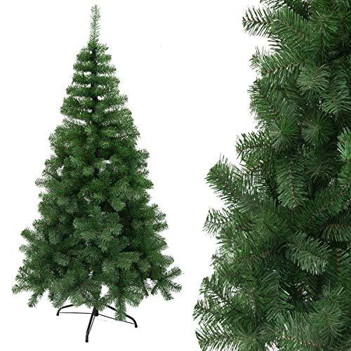 Arcoiris - Albero di Natale artificiale, extra imbottito, abete artificiale con supporto metallico, 60-240 cm