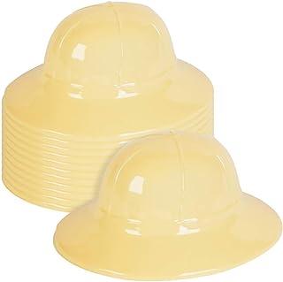 ArtCreativity Plastic Tan Safari Hats for Kids, Pack of 12, Jungle Theme Party Supplies, Safari Birthday Decorations, Zoo ...
