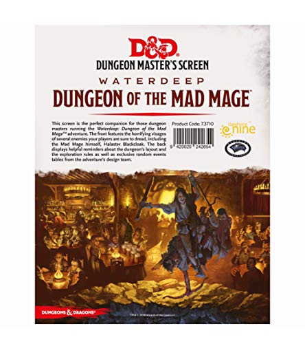 Gale Force Nine 73710 D&D Waterdeep Dungeon of The Mad Mage - Pantalla DM