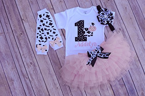 Cow birthday outfit,First birthday outfit girl,barn yard birthday,animal birthday,cake smash outfit girl,personalized 1st birthday tutu girl
