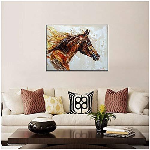 Arabische Paard Anna Sidi Yacoub Canvas Schilderij Poster, Muur Foto Woonkamer Thuis Decoratie Canvas 45x60 cm Geen frame