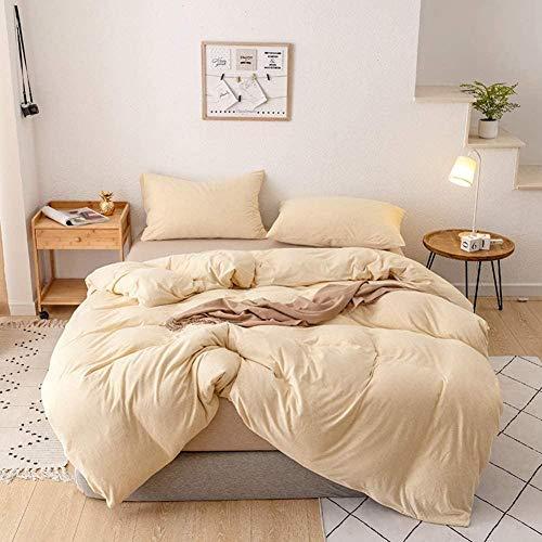 CCHAYE Bettbezug aus 100% Baumwolle mit einfarbigem Bettbezug mit Reißverschluss Mikrofaser Leichte, ultraweiche Bettdecke - grau, 150 x 210 cm (59 x 83 Zoll)-Blau_200 x 230 cm (79 x 91 Zoll) Improve