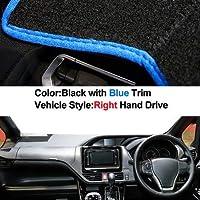 車のダッシュボードカバーダッシュマットトヨタノアヴォクシー2014 2015 2016 2017 2018 2019オートサンシェイドマットパッドカーペット右手ドライブ (Color : Blue)