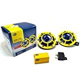 HELLA H31000001 Sharptone 12V High Tone / Low Tone Twin Horn Kit with Yellow...