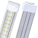 6-Pack, LED Shop Light, 8FT 100W 14000LM 6000K, Cold White, U Shape,...