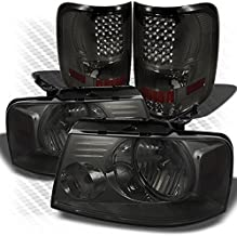 Xtune for 2004-2008 Ford F150 Smoked Headlights + Smoked LED Performance Tail Lights 2005 2006 2007