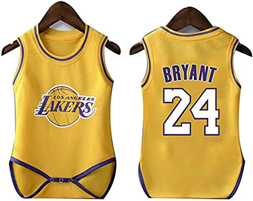 YDYL-LI New Basketball Jersey Uniform Baby One Piece Jersey Lakers # 24 Kobe Bryant All-Star Fans Training Jerseys Sudaderas para Niños, Transpirable,S
