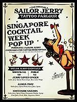 Sailor Jerry Tattoo Parlour ティンサイン ポスター ン サイン プレート ブリキ看板 ホーム バーために