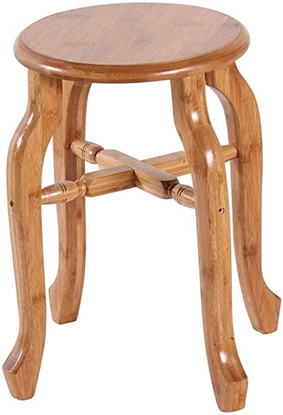 Carl Artbay Wooden Footstool Small Nan Bamboo Small Home Small Small Bench Bamboo Dining Coffee Table Nanzhu Round Home Color Large