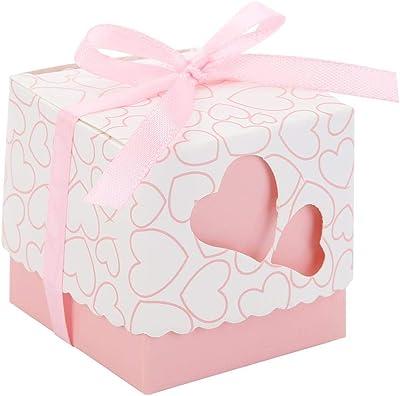 Amazon.com: Kslong - 50 cajas de recuerdos de boda, cortadas ...