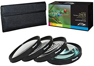 PLR Optics 58MM +1 +2 +4 +10 Close-Up Macro Filter Set with Pouch For The Olympus Evolt E-30, E-300, E-330, E-410, E-420, E-450, E-500, E-510, E-520, E-600, E-620, E-1, E-3, E-5 Digital SLR Cameras Which Have Any Of These (14-42mm, 40-150mm, 70-300mm) Olympus Lenses