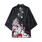 Fashion SHOP Gato Estilo japonés Samurai Kimono Streetwear Hombres Mujeres Cardigan Japón Harajuku Anime Robe Anime Ropa de Verano 2020 (Color : 7, tamaño : XL)
