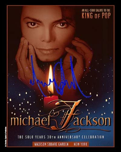 Michael Jackson Autographed Preprint Photo 11x14 Indefinitely Jacksonville Mall Signed Poster