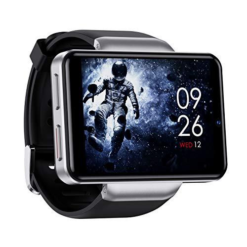 Voupuoda 2,41  4G Smart Watch Full Touch con Slot per Scheda SIM 3 GB RAM + 32 GB Rom 2080 mAh Batteria Doppia Fotocamera Musica Chat Video Gratuita Sblocco facciale Monitoraggio della frequenza