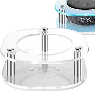 Geekria - Funda transparente de acrílico para Echo Dot (3ª generación) con reloj, soporte de pared para altavoz de techo, ...