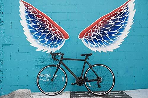 Frameloze schilderij Mode fiets poster canvas olieverfschilderij huis wanddecoratie kunst woonkamer slaapkamer decoratieAY5894 80X120cm