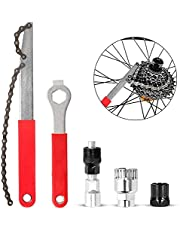AODOOR Ketting Removal Tool Kits, Fiets Crank Extractor Beugel Remover Cassette Lockring, Lockring Moer Tool Chain Whip Tools Fiets Vliegwiel Ketting, Fiets Cassette Removal Gereedschap met Spanner