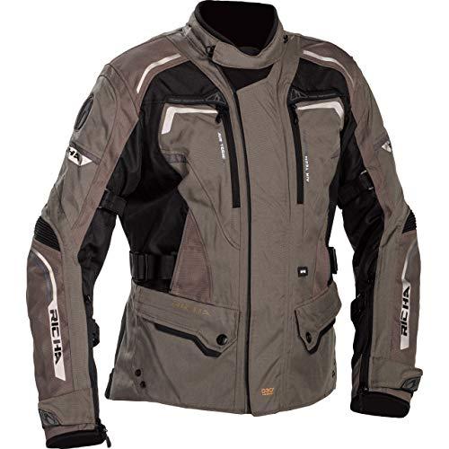 Richa Chaqueta de moto con protectores, chaqueta de moto Infinity 2 para mujer, chaqueta textil, tourer, para todo el año Marrón mate. XXL