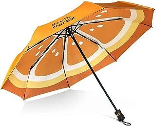 Fruit Creative Folding Umbrella Double Umbrella Umbrella Anti-UV Sun Umbrella Rain and Rain Umbrella HYBKY (Color : Yellow)