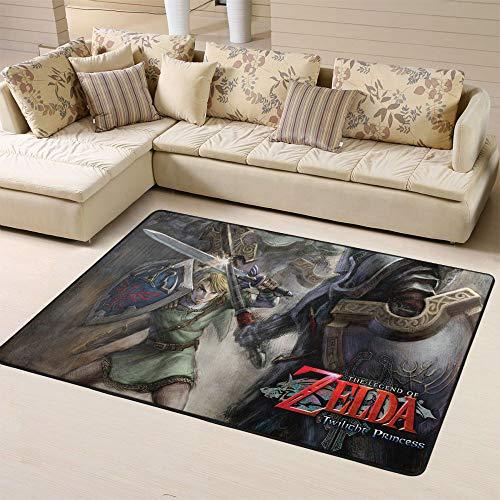 The Legend of Zelda - Alfombra para salón de clases (150 x 180 cm), diseño de anime The Legend of Zelda