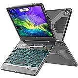 iPad Pro 11 Case 2020 with Keyboard, iPad Pro 11 Keyboard, 5-in-1 USB-C Hub, 7 Color Backlit - Pencil Holder - Smart...