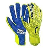 Reusch Pure Contact Fusion Junior Goalkeeper Gloves, Size 7 , Yellow/Blue