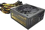 Fuente de alimentación minera 2000W Bitcoin Dogecoin Asic,Fuente de alimentación Gold 90+ PSU para 8 GPU GTX Series Eth Rig Ethereum Miner-Quiet Fan y 8 x SATA/24-PIN/8-PIN CPU/6 x IDE/6 + 2PIN * 16