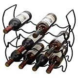 Stackable Wine Rack Countertop Wine Holder Stands for Counter Metal Wine Bottle Storage Racks 3-Tier 12 Bottle Wine Cellar Racks Tabletop Free Standing Wine Bottle Holder Display Shelf for Bar Cabinet