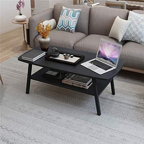 MJY Schwarzer Tisch, Mini-Schreibtisch, ovaler Tee-Kaffeetisch, moderner minimalistischer Tee-Tisch/Zeitschrift Teble