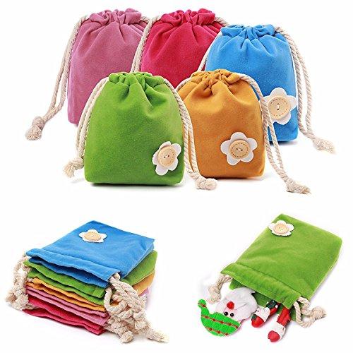 Bazaar mini-snoep kleuren velvet zakje sieraden huwelijk geschenk buidel portemonnee munten doos verpakking folding