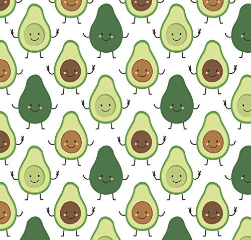 Avocado Wrapping Paper Fruit Party Gift - Folded Flat 30 x 20 Inch - 3 Sheets