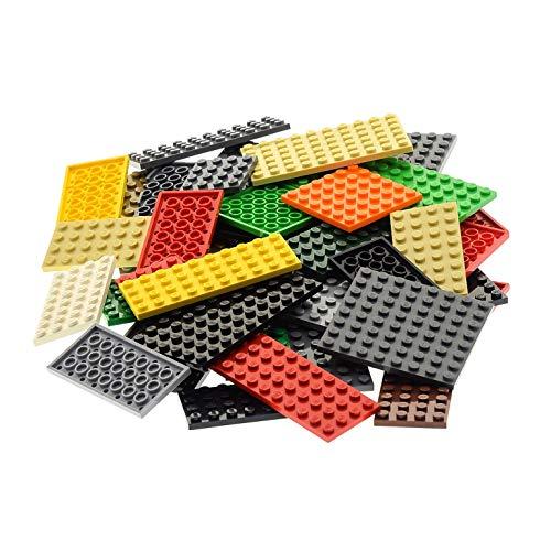50 Platten Platte zufällig bunt gemischt Bauplatte Grundplatte Lego k1