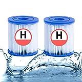 XIAOBUDIAN - Cartuchos filtrantes tipo H para filtro de piscina, Intex Type H H29007 (2 unidades)