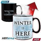 Unbekannt Z886895 Game of Thrones Thermoeffekt Tasse XL Winter Is Here, Mehrfarbig, 460 ml