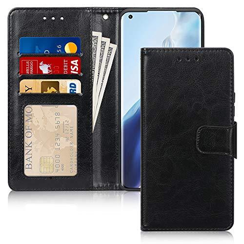 FYY Funda para Xiaomi Mi 11 5G, funda de piel Xiaomi Mi 11 magnética carcasa para Xiaomi Mi 11, Premium cartera Flip Case fundas tipo libro funda para Xiaomi Mi 11 2021, negro
