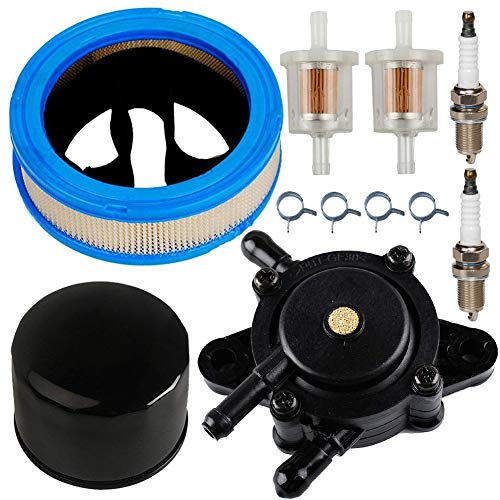 JJDD Filtro de Aire para Bomba de Combustible, Filtro de Aceite, bujía, Filtro de Combustible, Abrazaderas de Repuesto para Briggs & Stratton Vanguard V-Twin 12.5-21hp